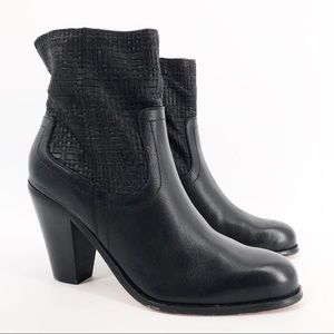 Corso Como Soft Tumbled Weaved Leather Bootie